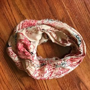 Urban Outfitters Pink Forest Infinity Scarf